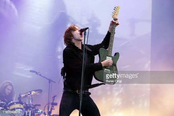 Van McCann of Catfish and the Bottlemen performs at Citadel Festival at Gunnersbury Park on July 14, 2019 in London, England.