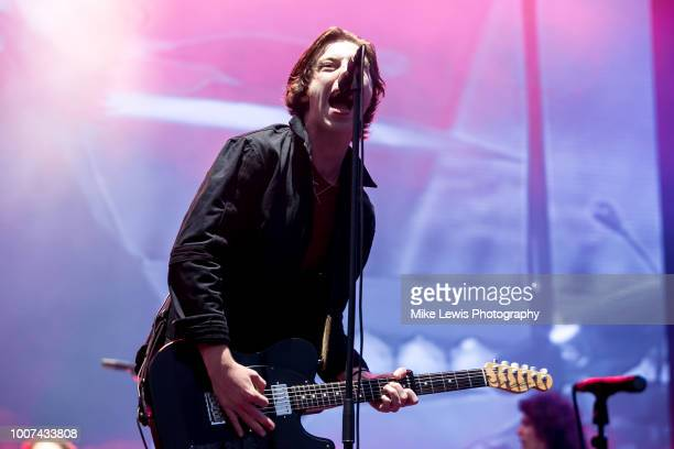 Van McCann of Catfish and the Bottlemen performs live on stage at Cardiff Castle on July 29 2018 in Cardiff Wales