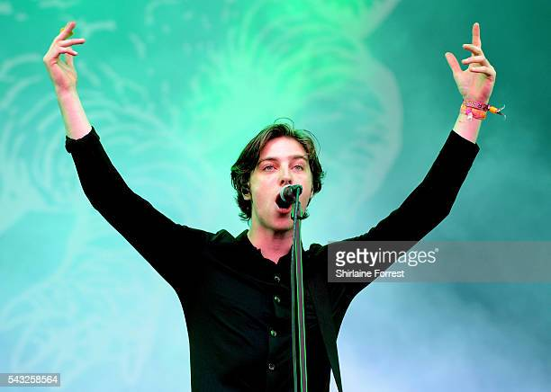 Van McCann of Catfish and the Bottlemen performs on The Other Stage at Glastonbury Festival 2016 at Worthy Farm Pilton on June 25 2016 in Glastonbury...