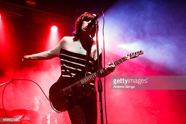 Van McCann of Catfish The Bottlemen performs on stage at The Ritz Manchester on December 3 2014 in Manchester United Kingdom