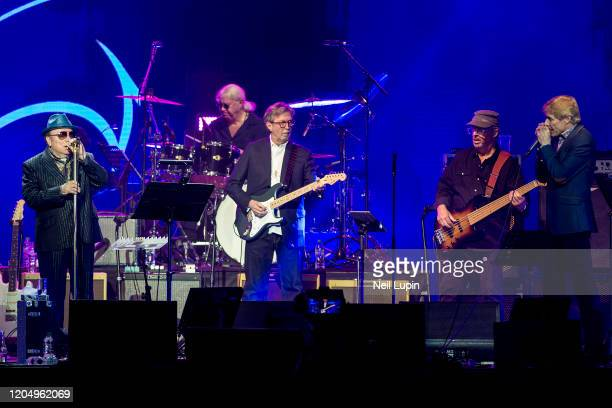 Van Morrison and Eric Clapton perform at the Music For Marsden 2020 at The O2 Arena on March 3 2020 in London England