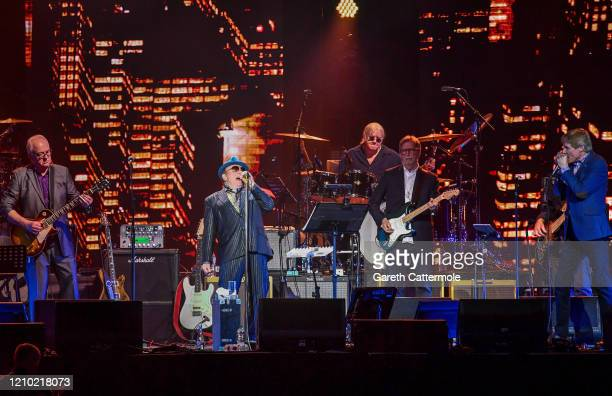 Van Morrison and Eric Clapton perform on stage during Music For The Marsden 2020 at The O2 Arena on March 03 2020 in London England