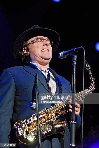 Van Morrison performs on stage at Ahoy at the North Sea Jazz Festival on July 15 2006 in Rotterdam, Netherlands.