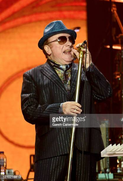 Van Morrison performs on stage during Music For The Marsden 2020 at The O2 Arena on March 03, 2020 in London, England.