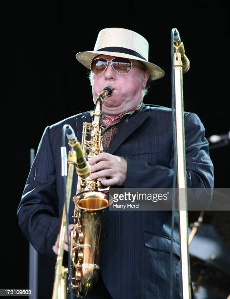 Van Morrison performs on stage on Day 3 of Cornbury Music Festival 2013 at Great Tew Estate on July 7 2013 in Oxford England