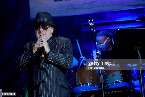 Van Morrison performs onstage during the 2017 Americana Music Association Honors Awards on September 13 2017 in Nashville Tennessee