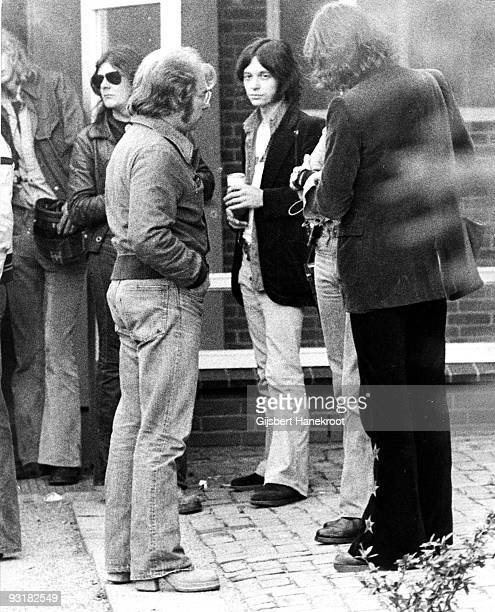Van Morrison posed outside the Carre Theatre in Amsterdam Holland on April 08 1974