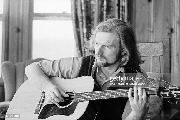 Van Morrison poses for a portrait in April 1970 in Woodstock New York