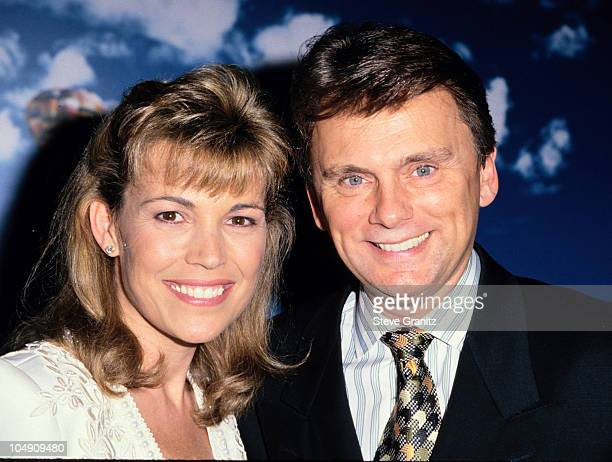 Van na White & Pat Sajak during NAPTE International 1995 Press Conference at Sands Expo Center in Las Vegas, Nevada, United States.