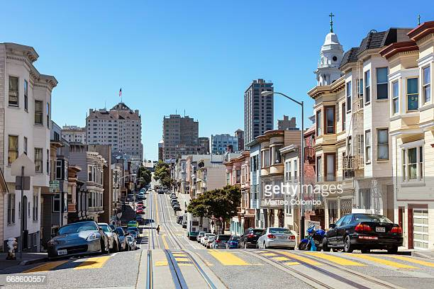 van ness avenue, san francisco, california, usa - san francisco california stock photos and pictures