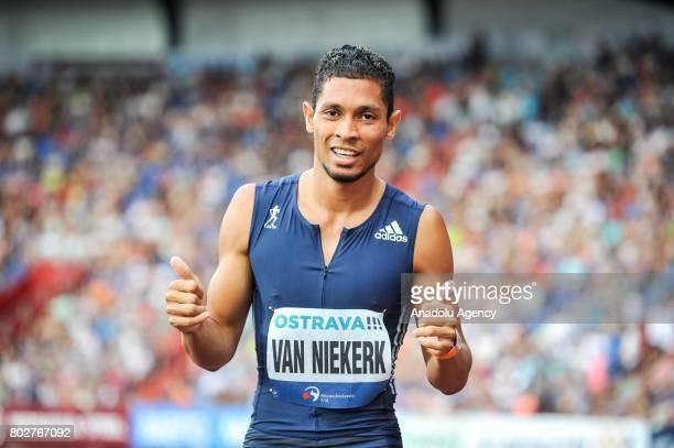Van Niekerk Wayde gestures during the 300m men IAAF World challenge Zlata Tretra in Ostrava Czech Republic on June 28 2017