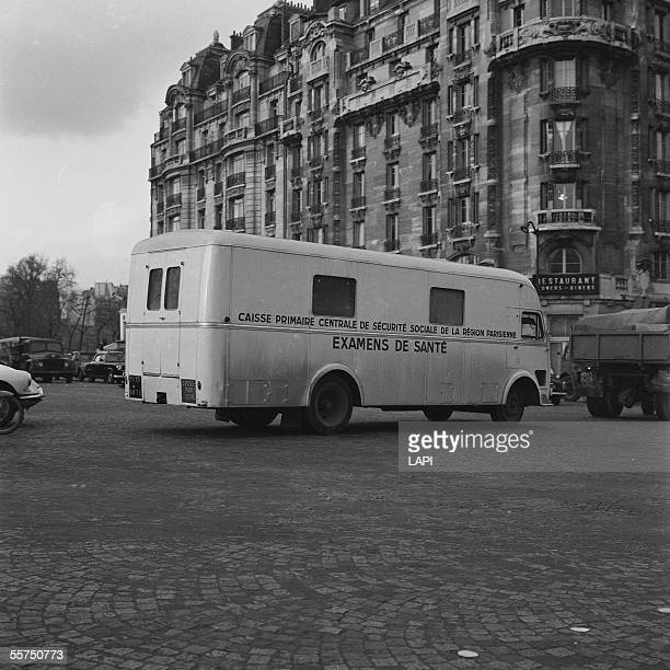Van of health examination of the National Health Service Paris 1958