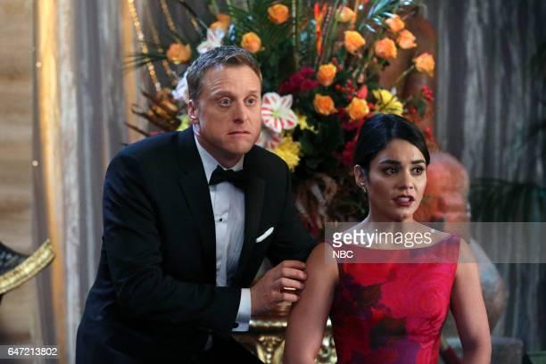 POWERLESS 'Van Of The Year' Episode 104 Pictured Alan Tudyk as Van Vanessa Hudgens as Emily