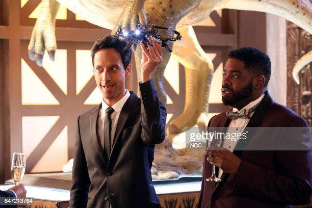 POWERLESS Van Of The Year Episode 104 Pictured Danny Pudi as Teddy Ron Funches as Ron