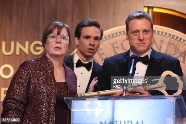 POWERLESS 'Van Of The Year' Episode 104 Pictured Meagan Fey as Alma Rob Chester Smith as Archibald Stylus Alan Tudyk as Van