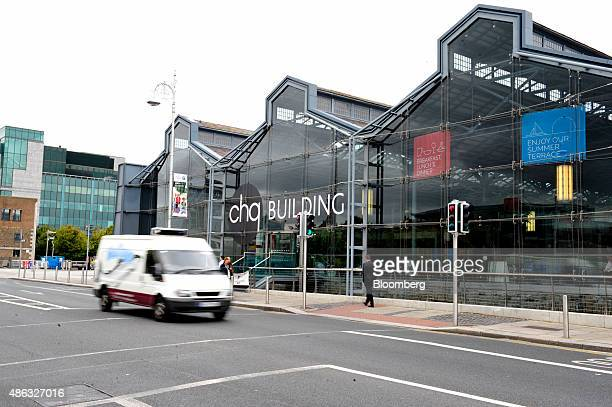 Van passes the CHQ shopping mall in Dublin, Ireland, on Thursday, Sept. 3, 2015. Former Coca-Cola Co. Chief Executive Officer Neville Isdell has...