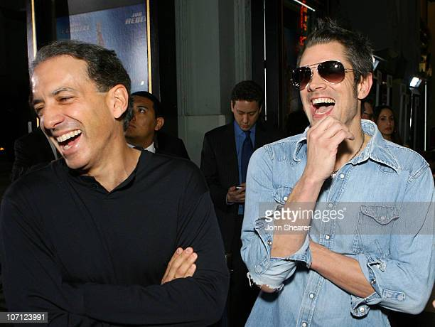 Van Toffler and Johnny Knoxville during Blades of Glory Los Angeles Premiere Red Carpet at Mann's Chinese Theater in Hollywood California United...