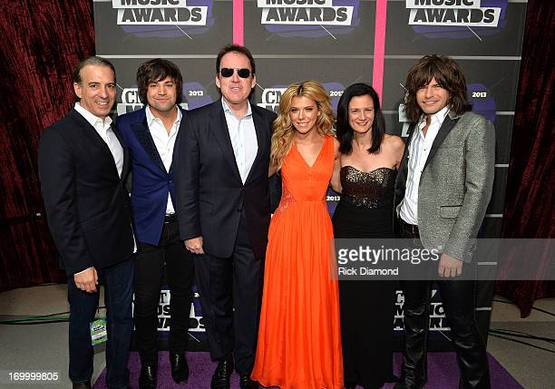 Van Toffler President of MTV Networks Music Logo Group at Viacom Inc Neil Perry Brian Philips President of CMT Kimberly Perry Leslie Fram SVP of...