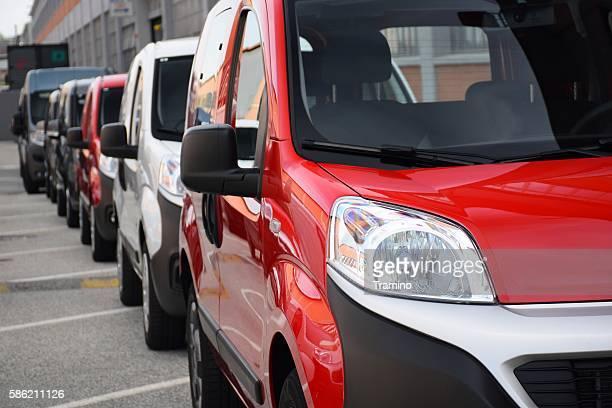 Van vehicles on the parking