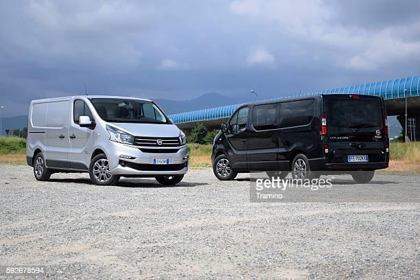 Van vehicles on the road