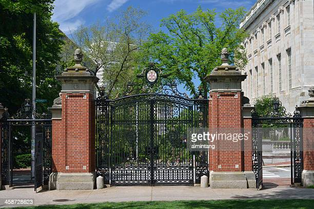 van wickle gates of brown university - brown university stock pictures, royalty-free photos & images