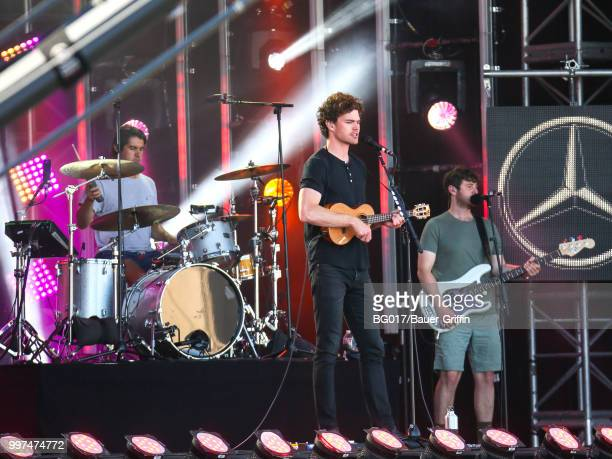 Vance Joy is seen performing at 'Jimmy Kimmel Live' on July 12 2018 in Los Angeles California