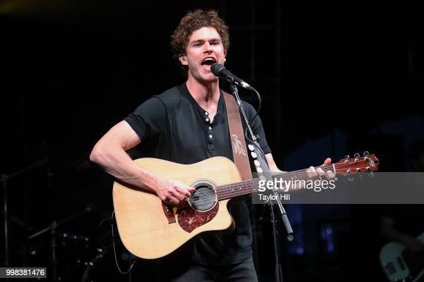 Vance Joy performs during the 2018 Forecastle Music Festival at Louisville Waterfront Park on July 13, 2018 in Louisville, Kentucky.