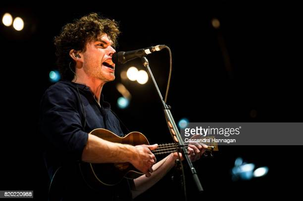 Vance Joy performs for fans during Splendour in the Grass 2017 on July 21 2017 in Byron Bay Australia