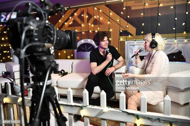 Vance Joy speaks during an interview with Kat Corbett at KROQ Almost Acoustic Christmas 2017 at The Forum on December 10, 2017 in Inglewood,...