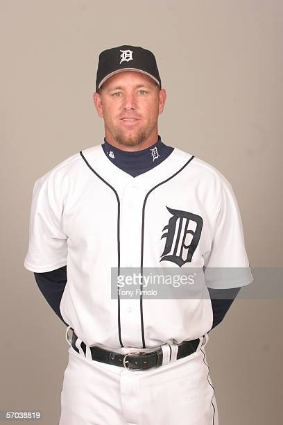 Vance Wilson of the Detroit Tigers during photo day at Marchant Stadium on February 26 2006 in Lakeland Florida