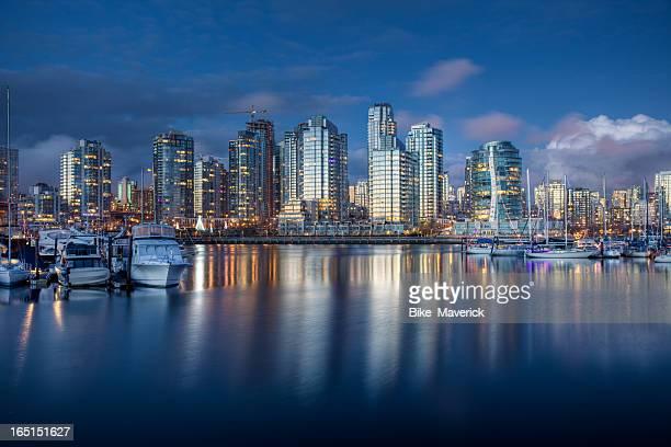 Vancouver after dusk