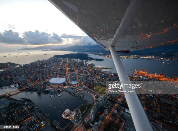 Vancouver at Dusk, from the Air