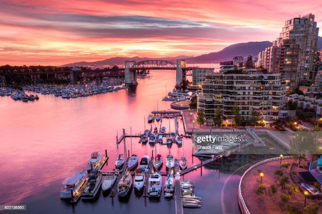 Vancouver at Sunset : Stock Photo