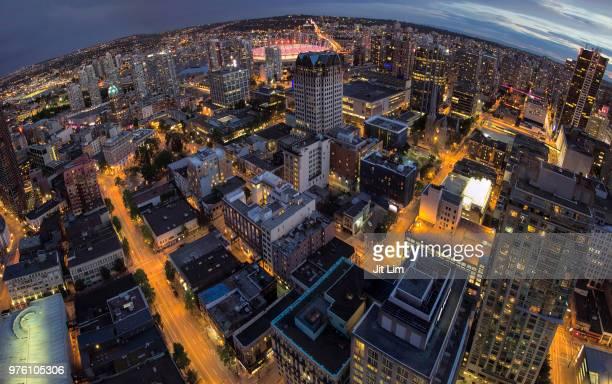 Vancouver BC Downtown Fisheye View