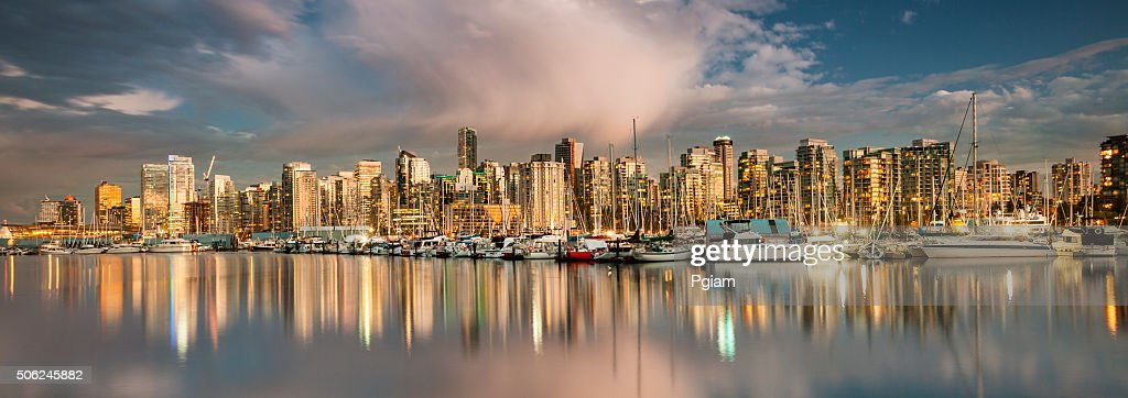 Vancouver BC panoramic cityscape : Stock Photo