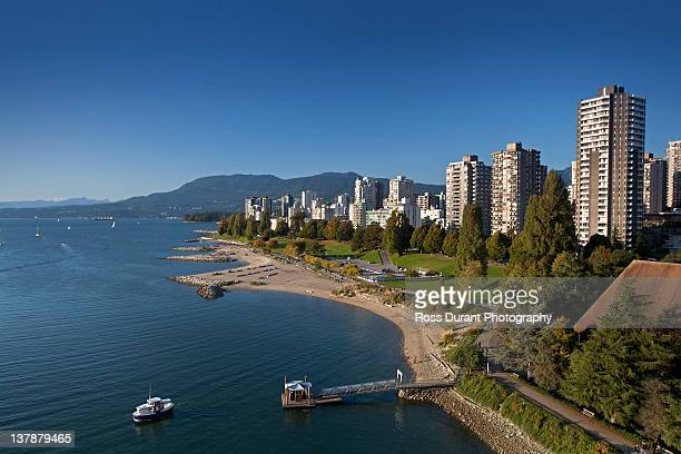 vancouver bc - english bay stock photos and pictures
