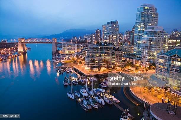 Vancouver, British Columbia Canada. Burrard Bridge