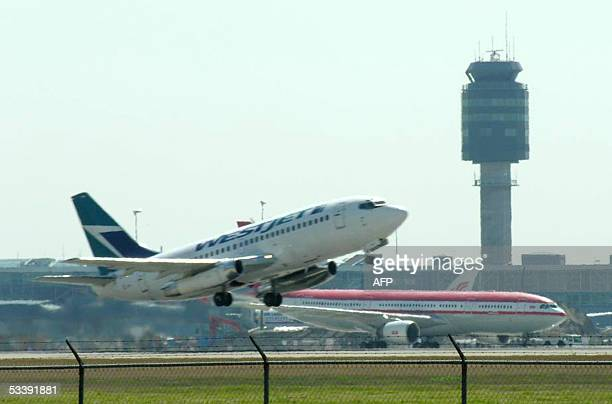 An airplane takes off from Vancouver International Airport 13 August 2005. Vancouver is the first airport in the world to purchase the Tarsier radar...