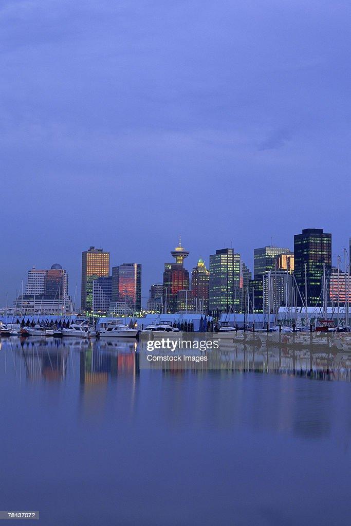 Vancouver , Canada cityscape : Stockfoto