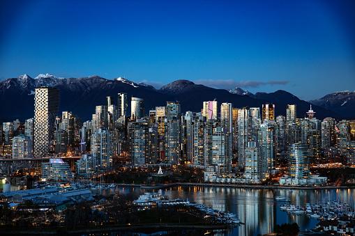 Vancouver Canada twilight skyline 1094126100