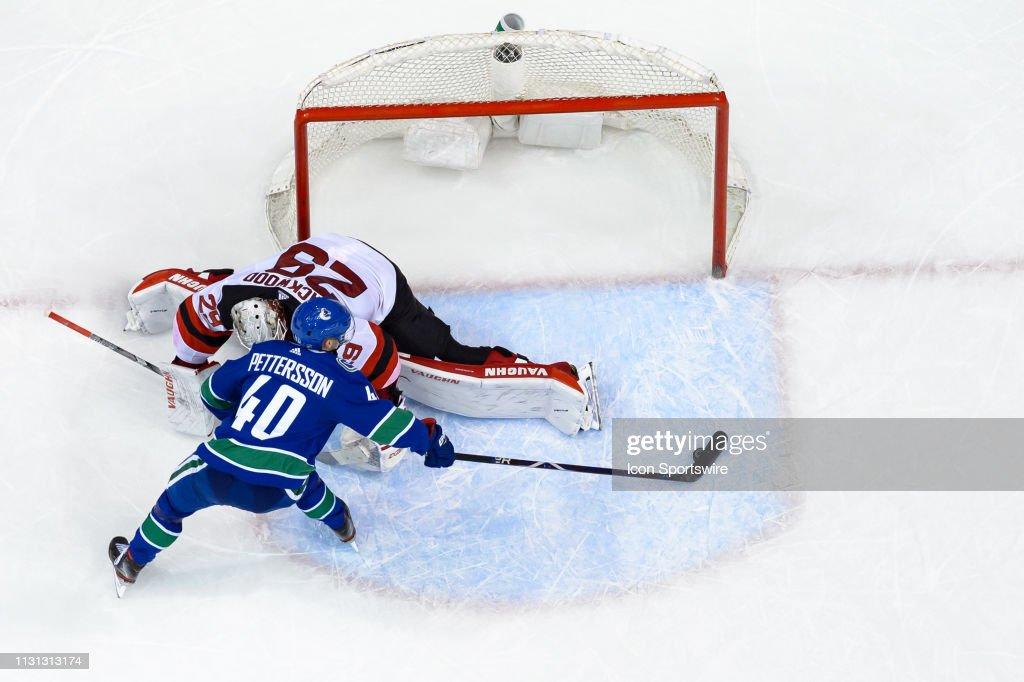 NHL: MAR 15 Devils at Canucks : News Photo
