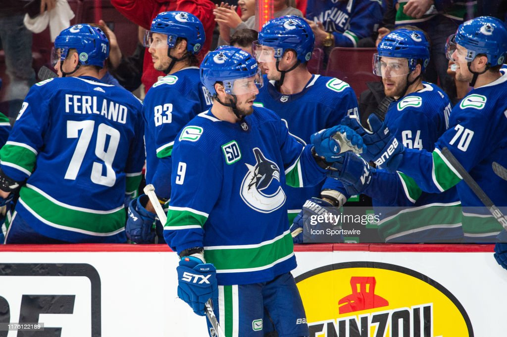 NHL: OCT 15 Red Wings at Canucks : News Photo