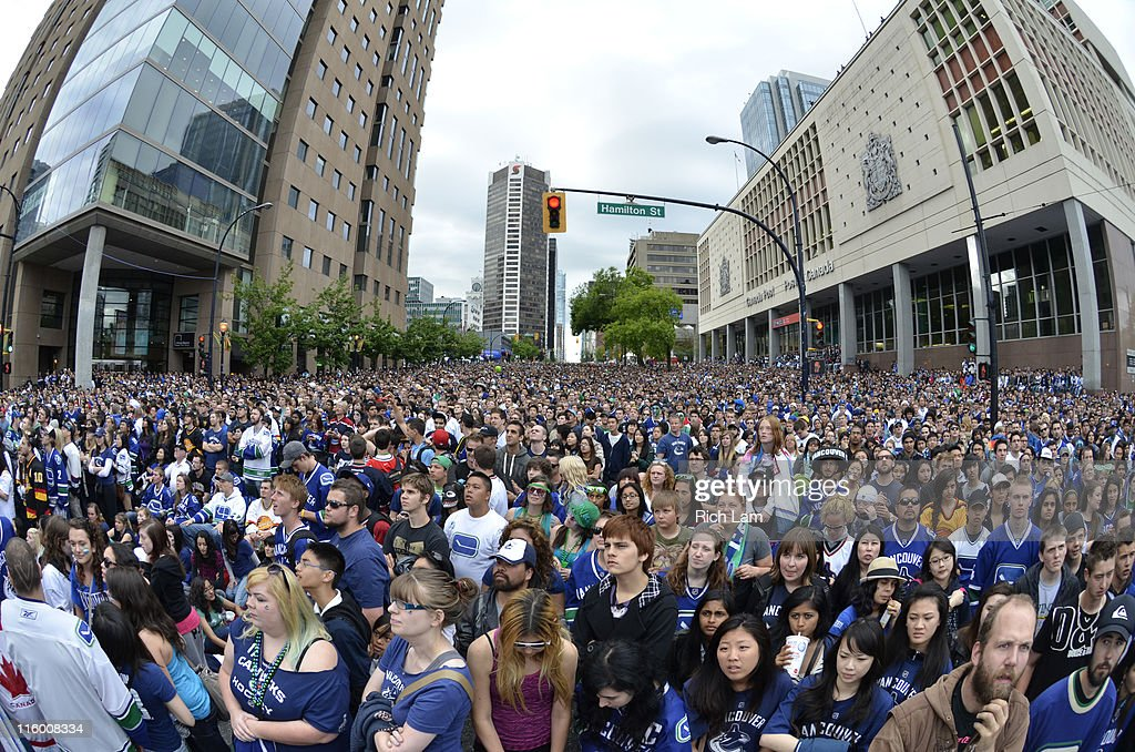 Fans Gather to Watch Game Six of the NHL Stanley Cup Final : News Photo