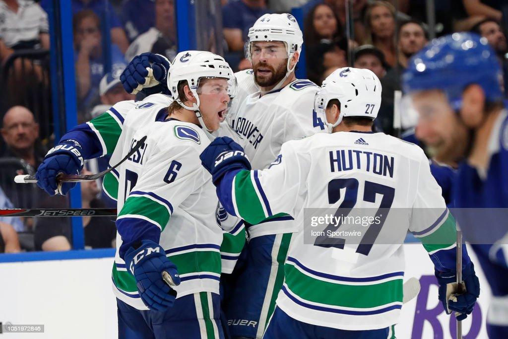 NHL: OCT 11 Canucks at Lightning : News Photo