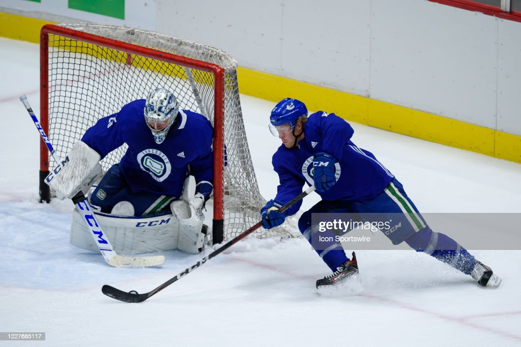 NHL: JUL 18 Canucks Training Camp : News Photo