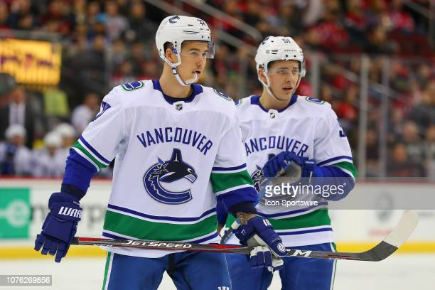 Vancouver Canucks right wing Nikolay Goldobin during the National Hockey  League game between the New Jersey d9c82817c