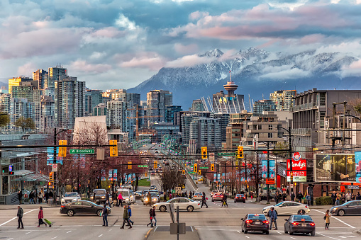 Vancouver City under the mountain 1124659884