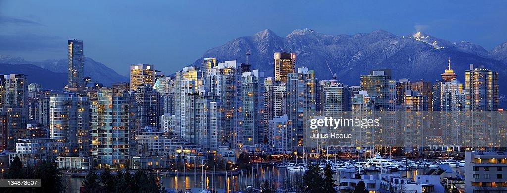 Vancouver downtown panorama : Stock Photo