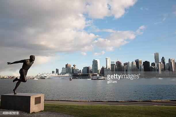 Vancouver downtown skyline and coal harbour
