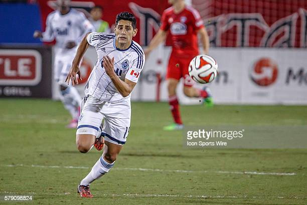 Vancouver FC midfielder Matias Laba during the MLS Western Conference Knockout soccer match between the Vancouver Whitecaps and FC Dallas in Frisco...